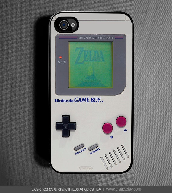 iPhone 4 case iPhone 4s case - Classic Gameboy iPhone Case