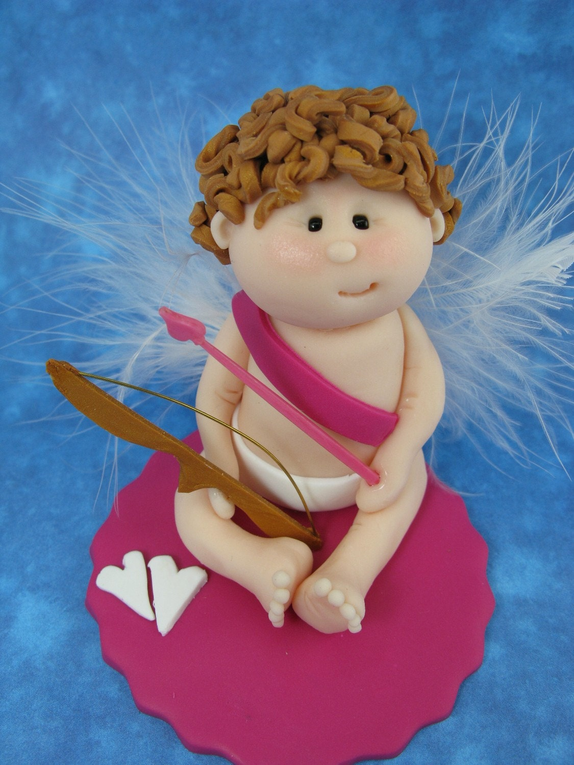 Valentine Cupid - Polymer Clay Figurine - Personalized