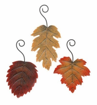 Fall wedding accents and decorations This is a set of three 3 fall leaves