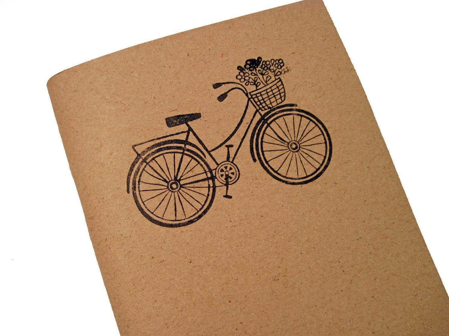 Bicycle 2010-2011 Vintage inspired Handstamped planner - calendar