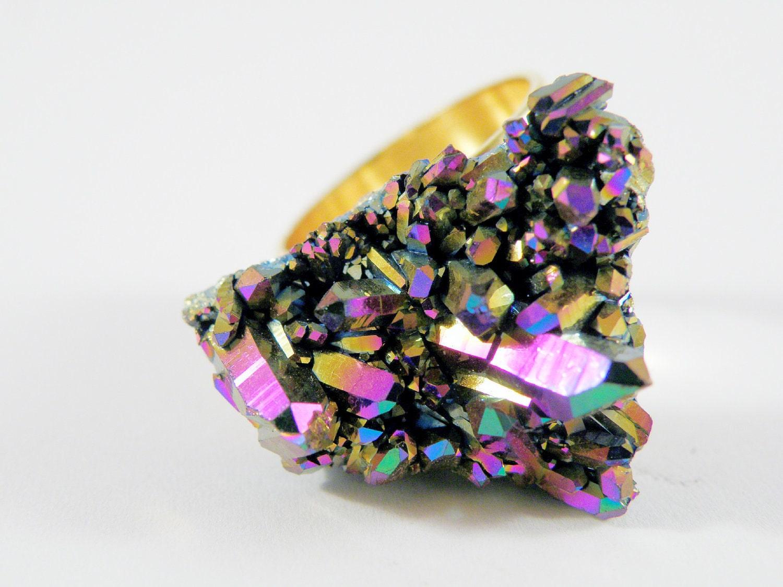 Titanium Aura Quartz Ring