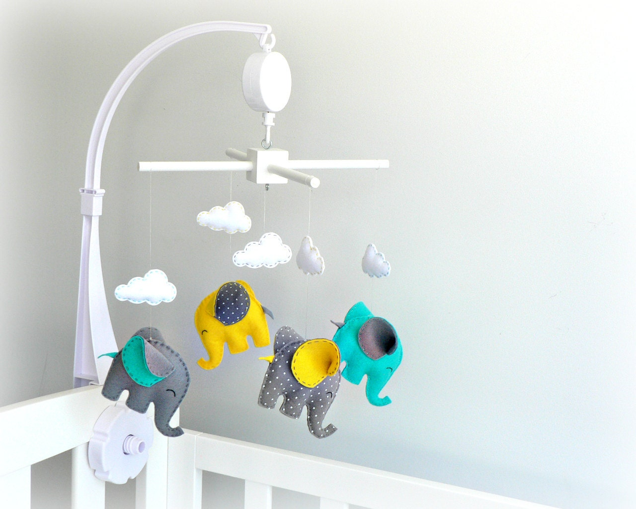 Musical Elephant Baby Mobile Crib Mobile By Lullabymobiles