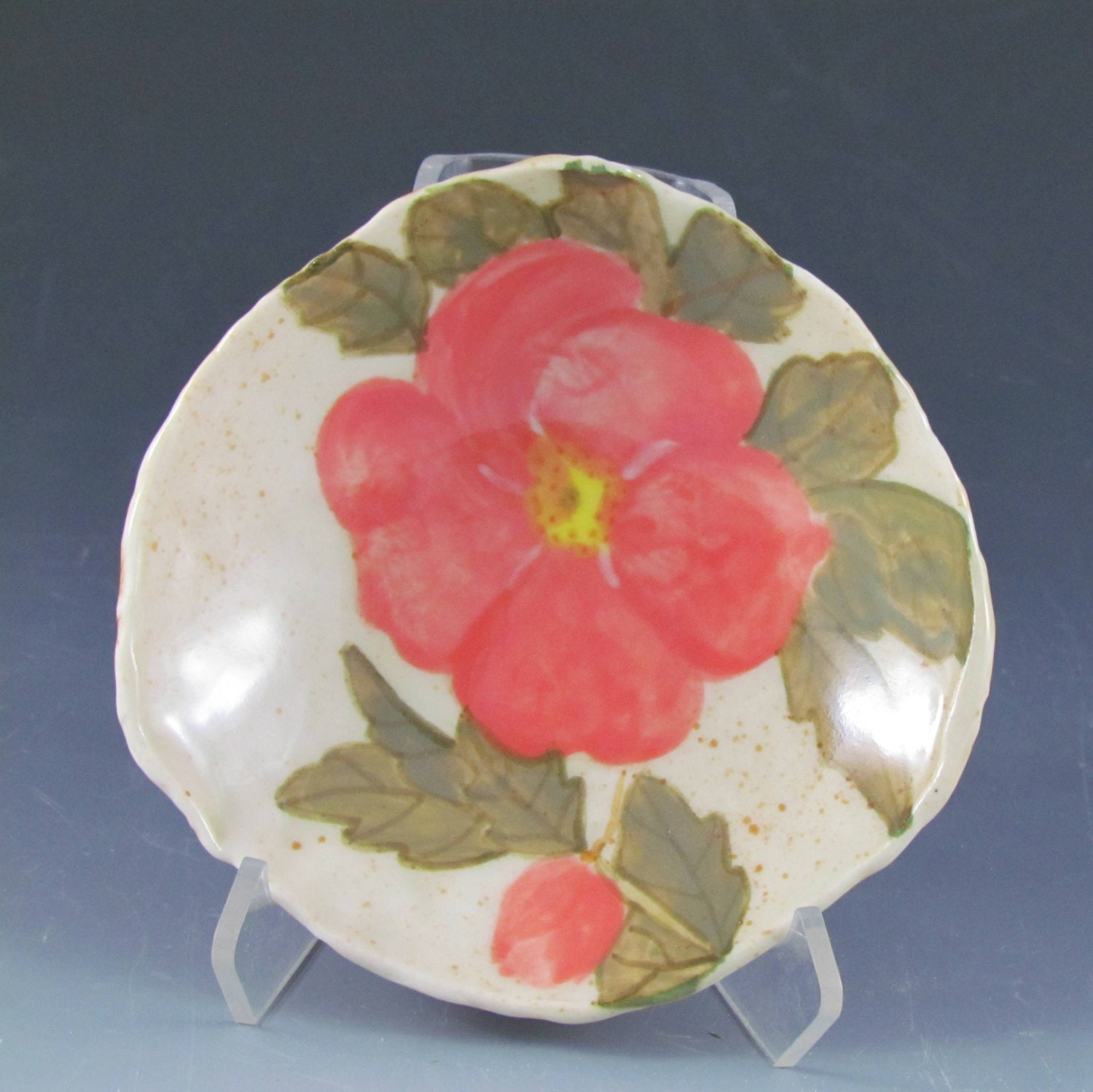 Bowl with wild rose design