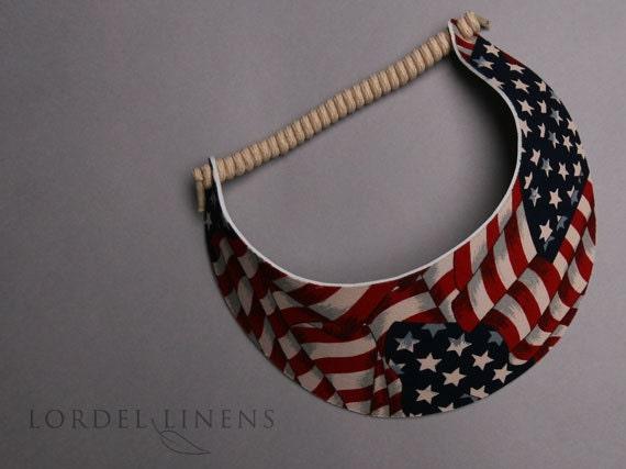 Patriotic sun visors