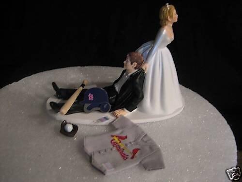st louis cardinals baseball wedding cake topper groom 39 s cake