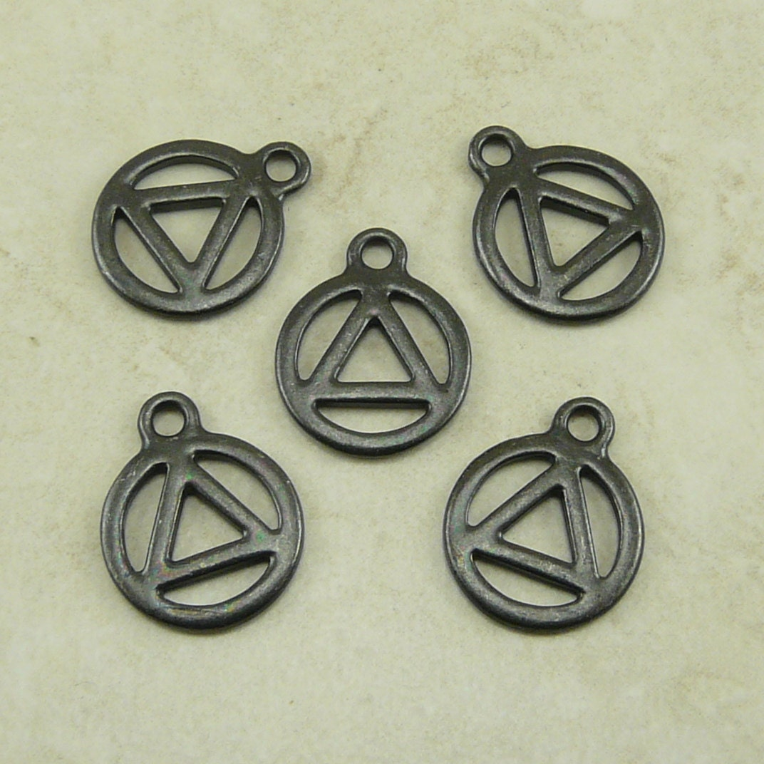 tierracast aa recovery serenity symbol charm by dragynsfyre