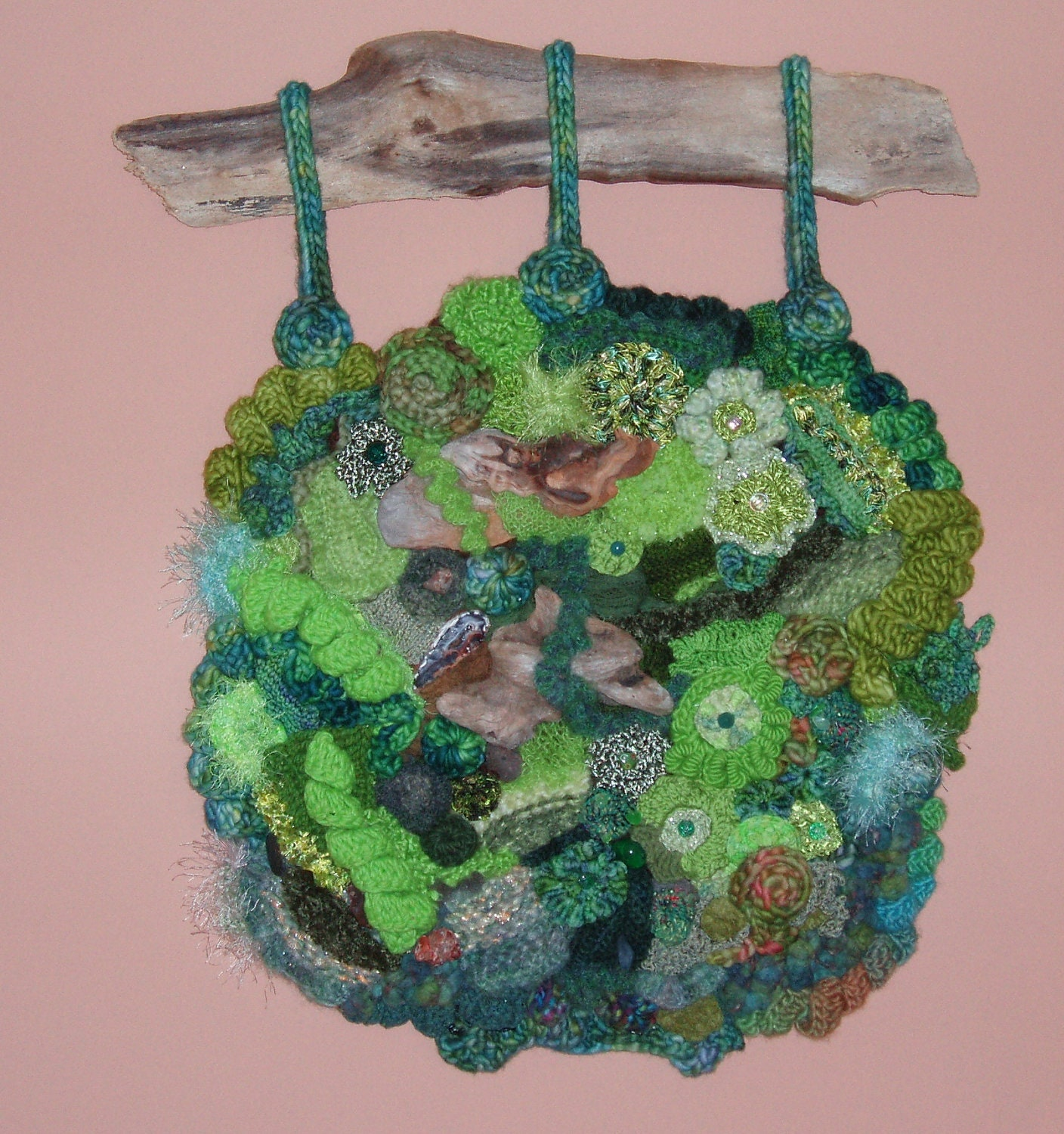 Freeform Knit Crochet Wall Hanging, An Afternoon on Oberg Mountain ...