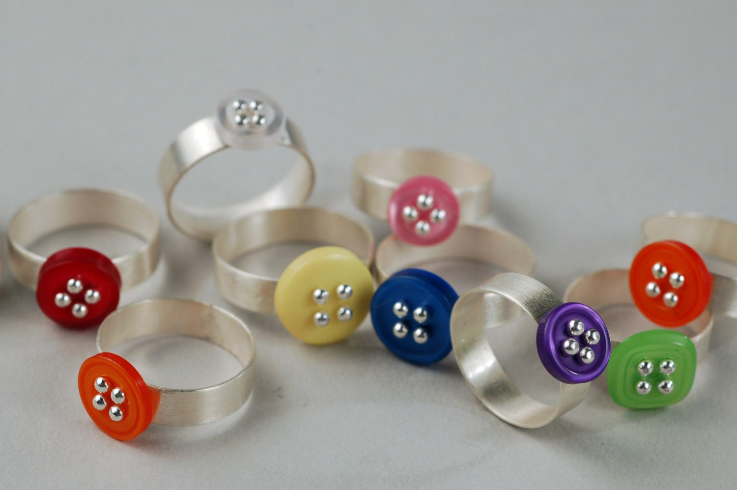 Etsy :: Button Rings- DESIGN YOUR OWN from etsy.com
