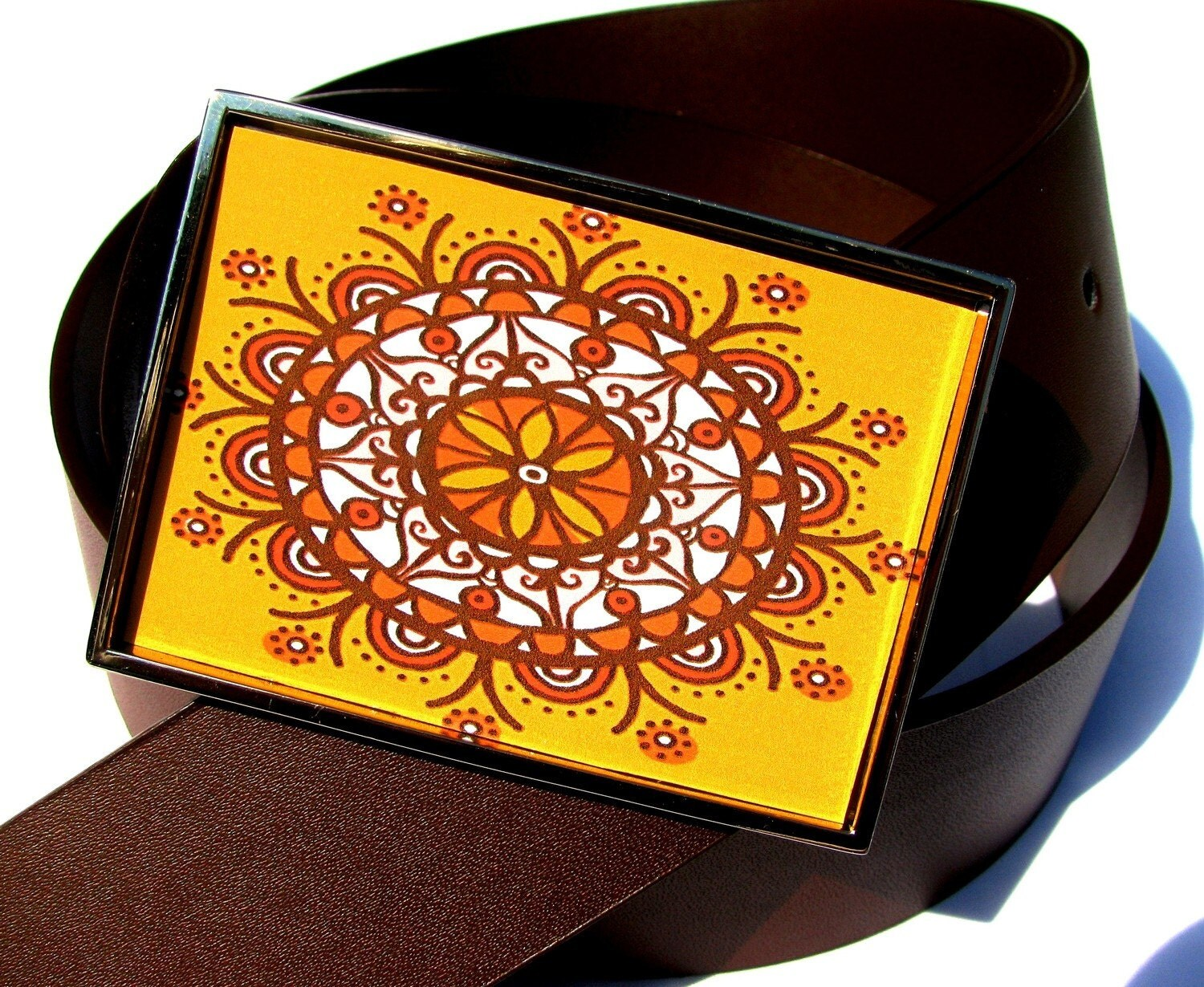 SALE FREE BELT Waist Candy--Bhindi Sunburst FREE Belt