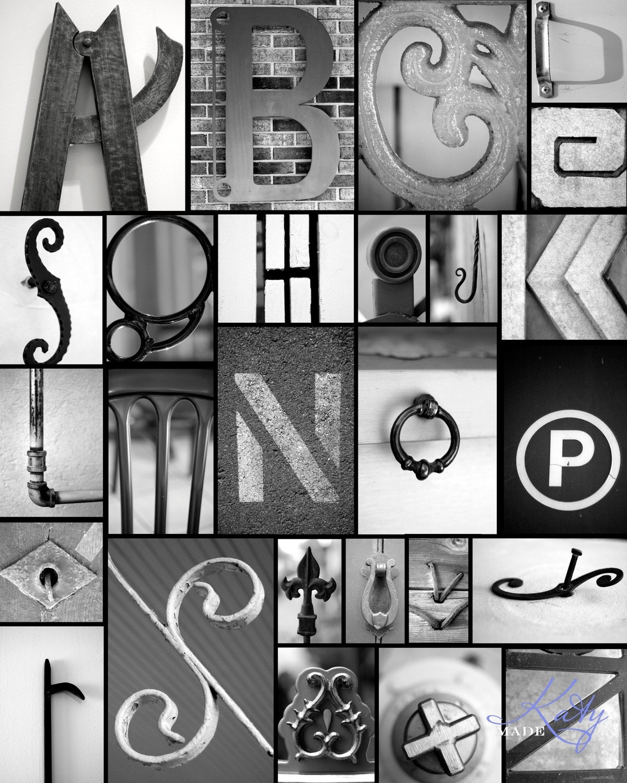 Alphabet Poster- 16x20 Collage Print