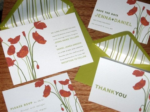 Floral Themed Invitation SAMPLES