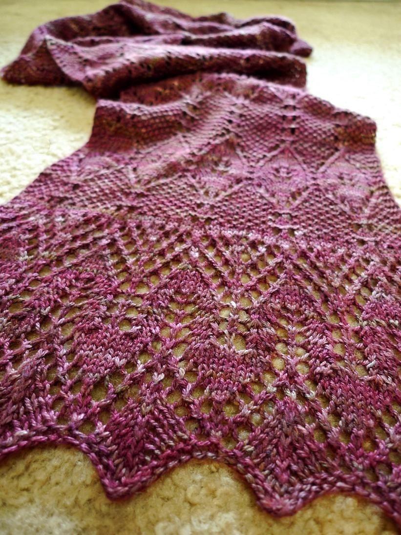 Cap Knitting Patterns : Gothic Moss Shawl Knitting Pattern PDF file by KitFig on Etsy