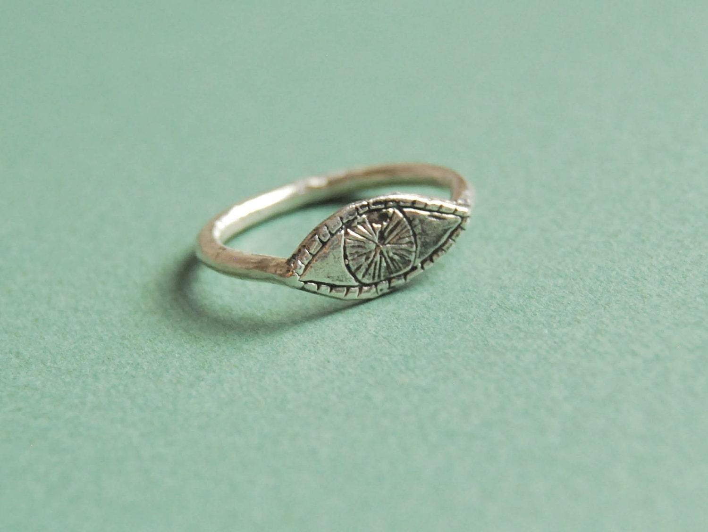 Watchful Eye - sterling silver ring