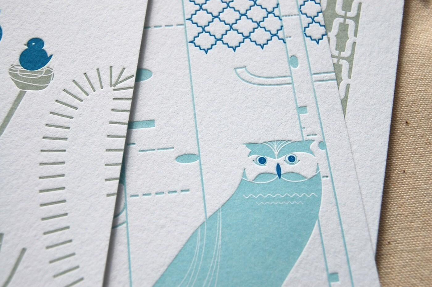 Etsy :: tarahogan :: 2009 Letterpress Wall Calendar Collaboration