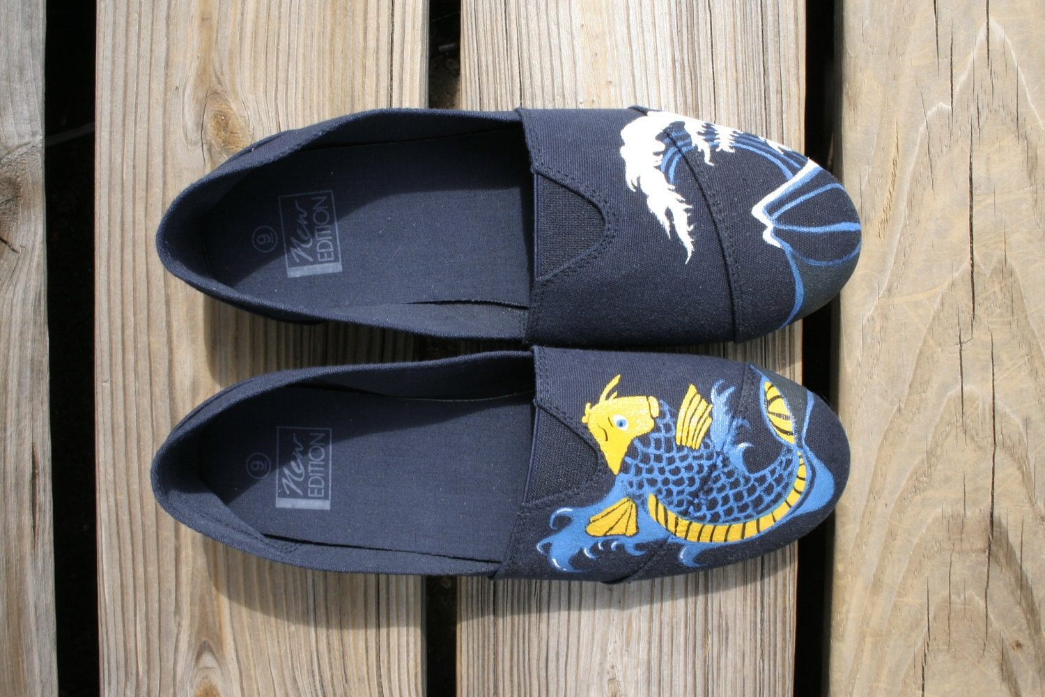 Koi Fish and Wave Shoes - sirhcsirhc