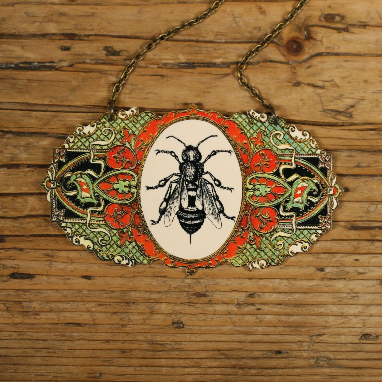 Victorian Bee Necklace by mamaslittlebabies on Etsy from etsy.com