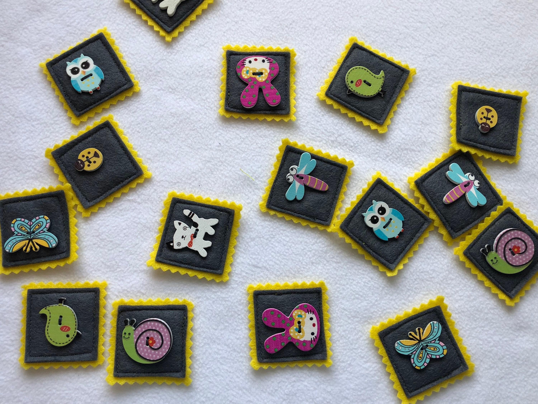 Felt Memory game, educational game, matching game, felt toy, memory card game, memory match, Toddler Game