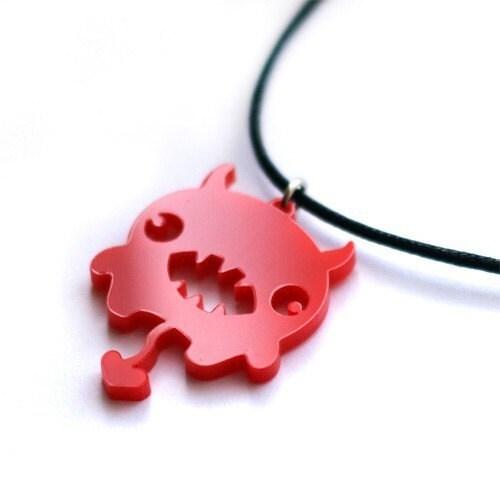 Red devil Kawaii necklace