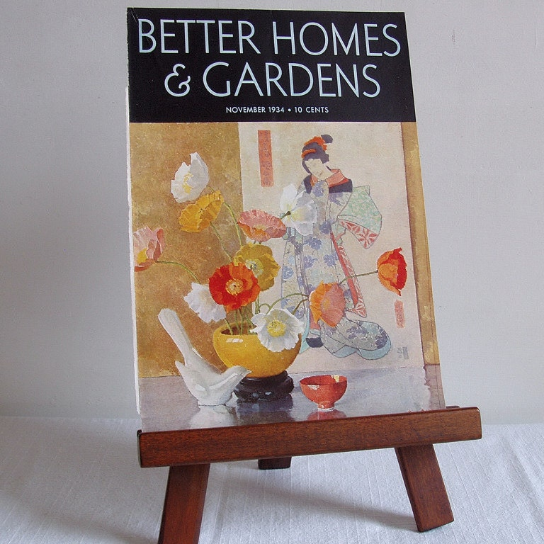 Vintage 1934 Better Homes And Gardens Cover By Emilylynch