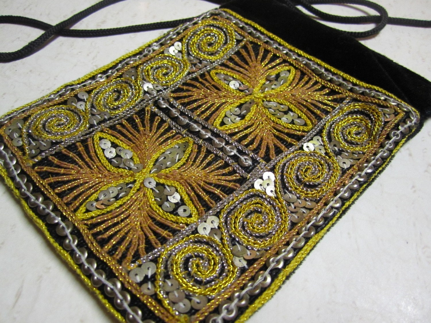Retro Hippy Chic Sequined Purse