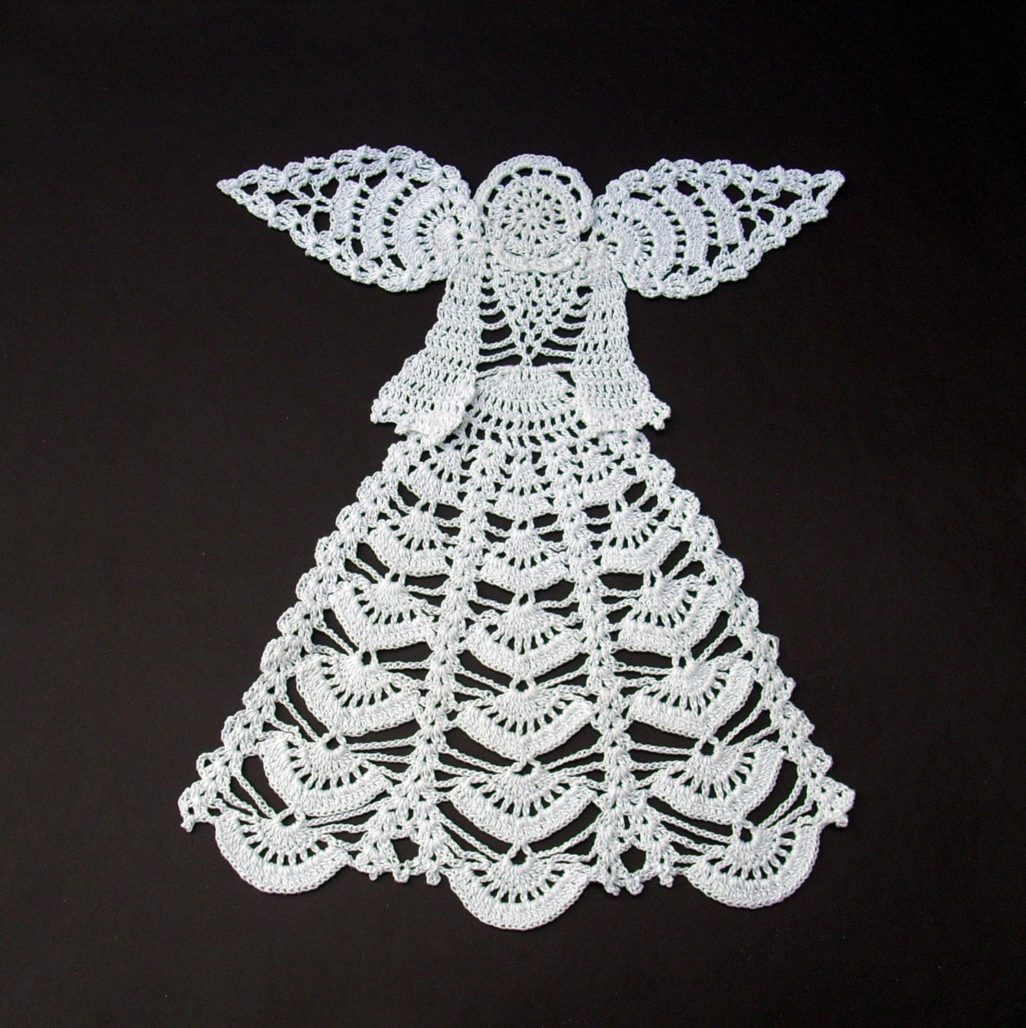 White crochet angel centerpiece doily by jarg0n on Etsy ...