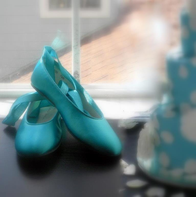 Wedding shoes Tiffany Blue  Ballerina Flats by norakaren on Etsy