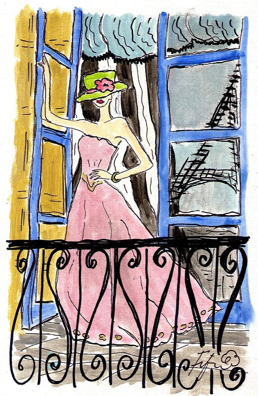 Pink Dress in Paris