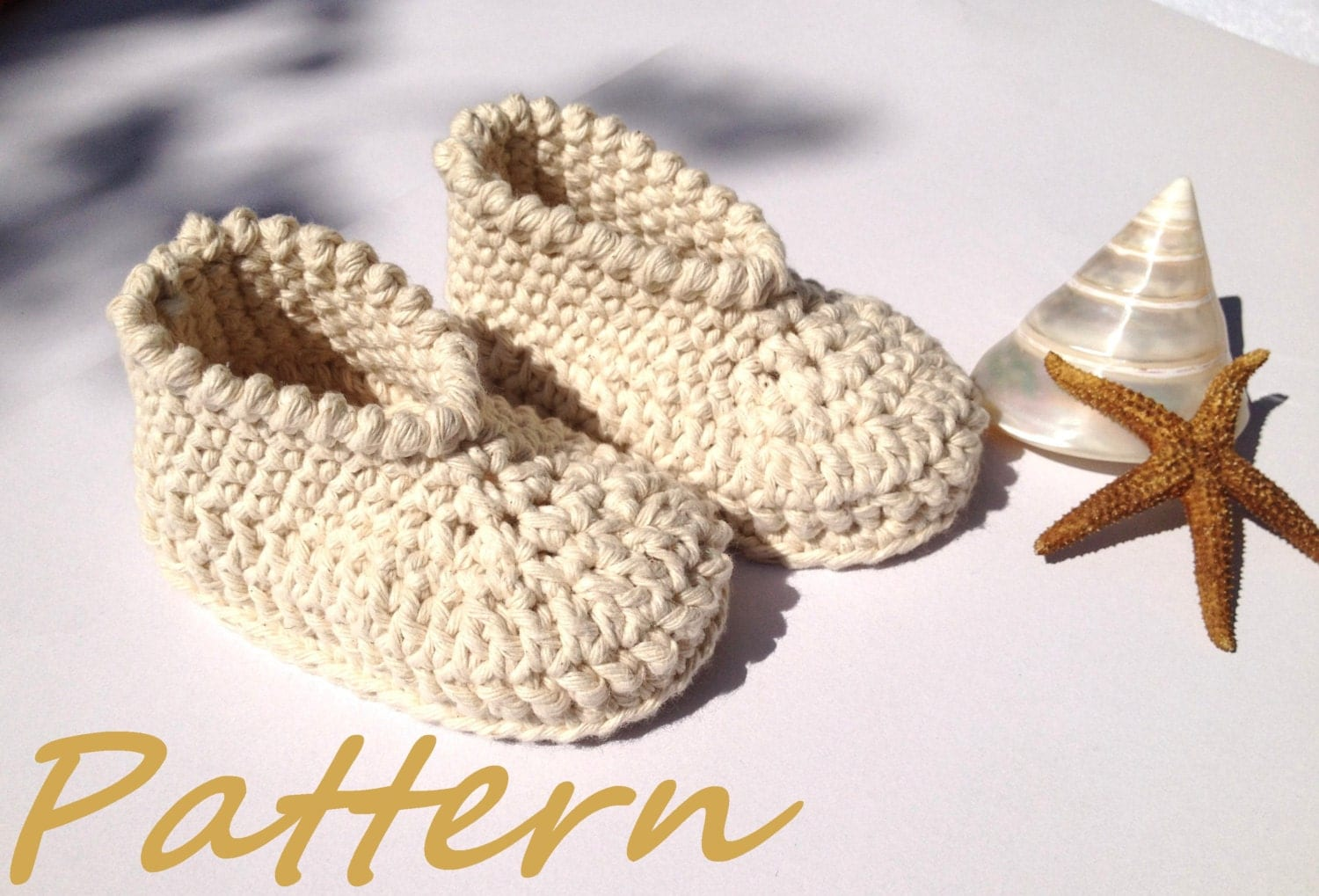 Organic Cotton Baby Booties Crochet Pattern Baby Shoes by ...