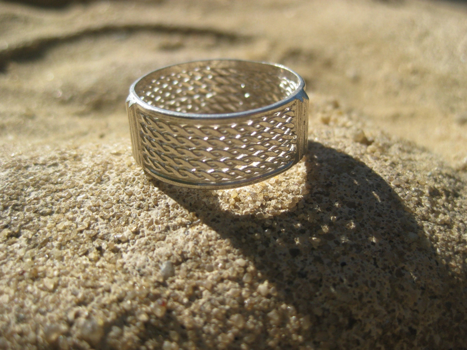 Open-Work West-African Style Silver Ring