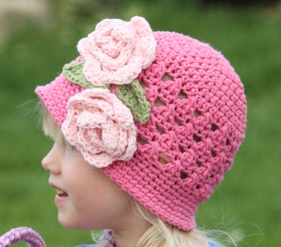 CROCHET PATTERN Crossed Cluster Cloche (5 Sizes Included Newborn to Ladies) Permission to sell all finished items