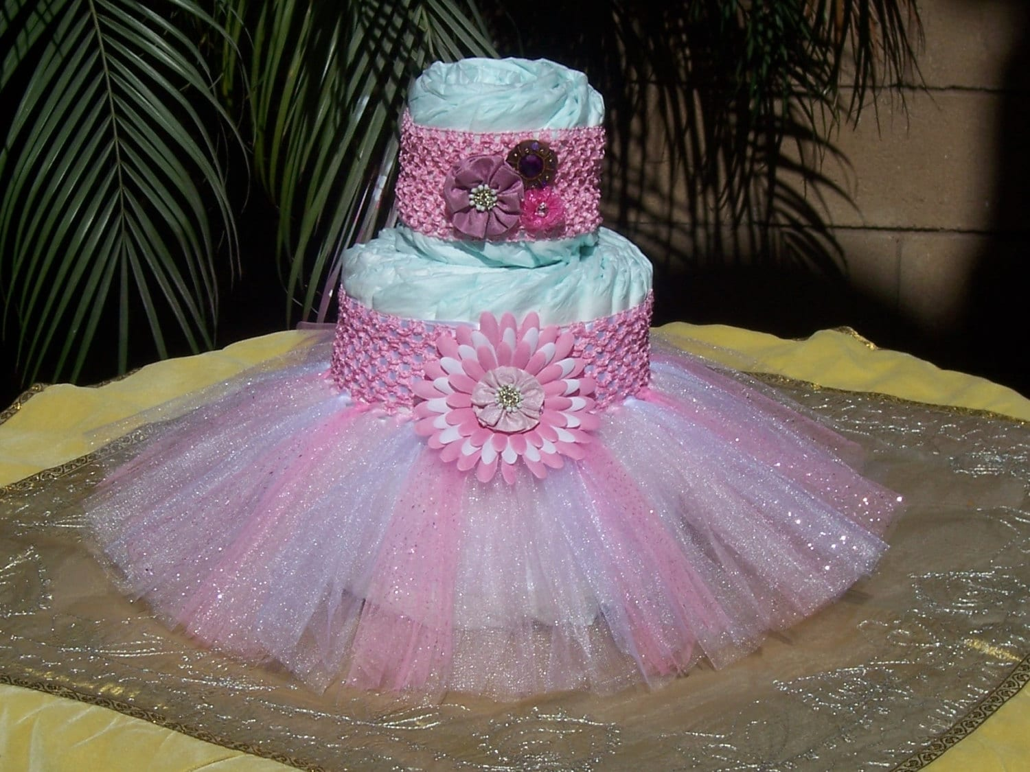 Tutu diaper cake kit redladybug it s a girl baby by