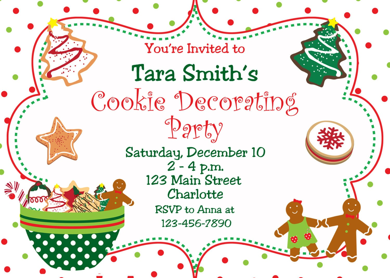 Printable Cookie Exchange Invitations was good invitations example