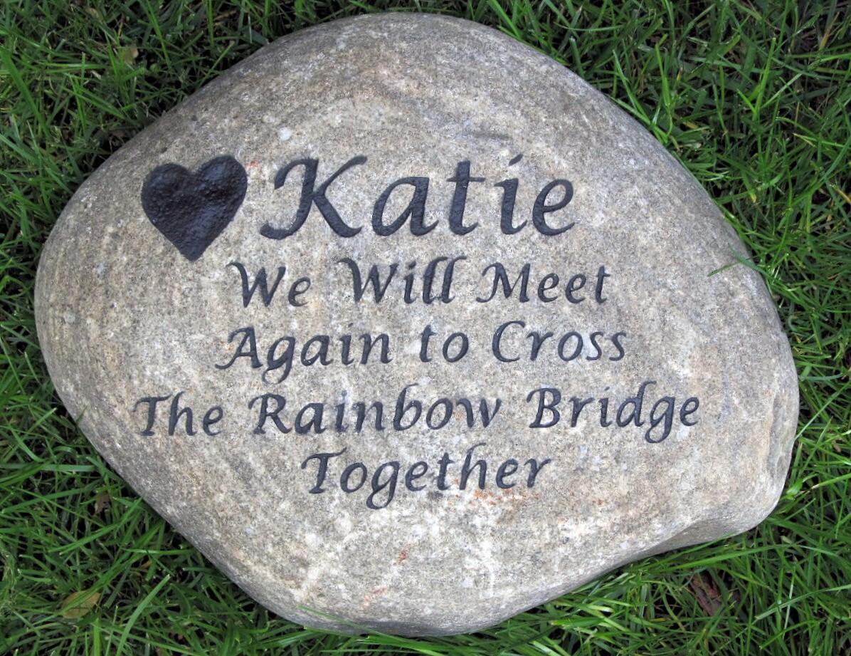 Rainbow Bridge Memorial Stone : Personalized rainbow bridge memorial stone by mainlinedesigns