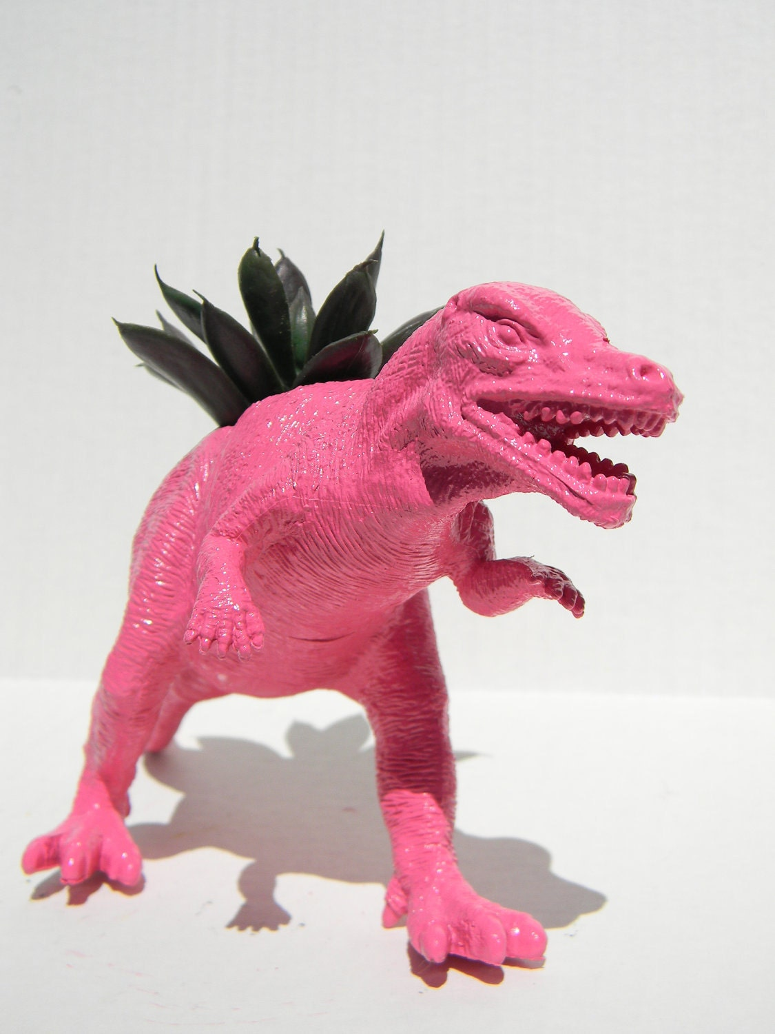 Bright Pink Dinosaur Planter Bright Pink Allosaurus