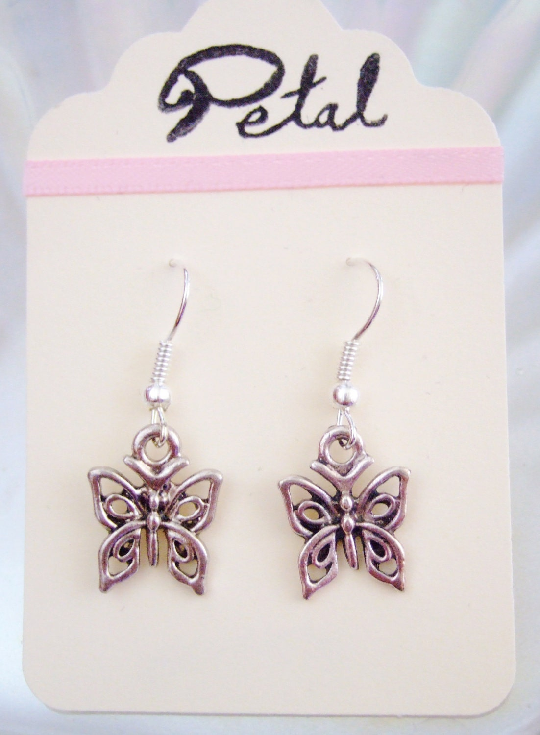 Butterfly silver earrings (POC07)