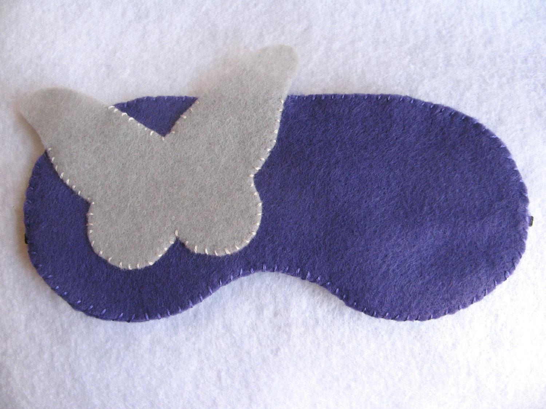 Felt Butterfly Purple Sleep Eye Mask Handmade-SALE