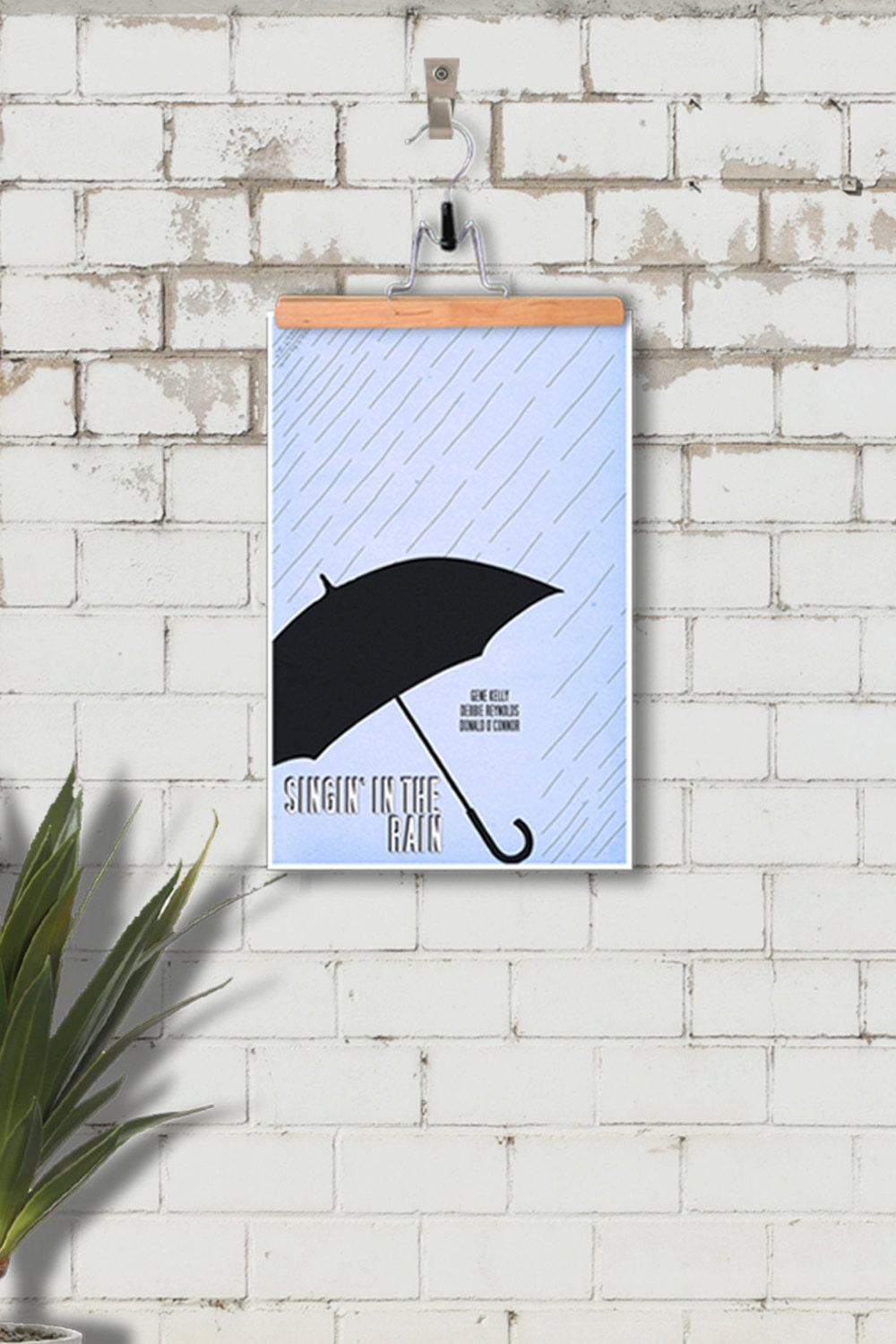 Singin' In The Rain - 12x18 inch Minimalist Poster - Ghoulery