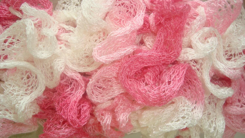 pink ruffle scarf