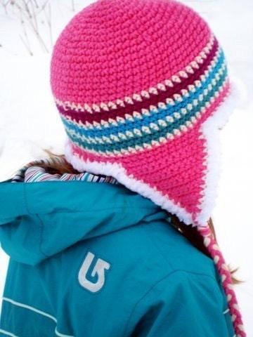 Child 5 to Tween Cotton Juicy Bubble Gum Furry Flap Hat