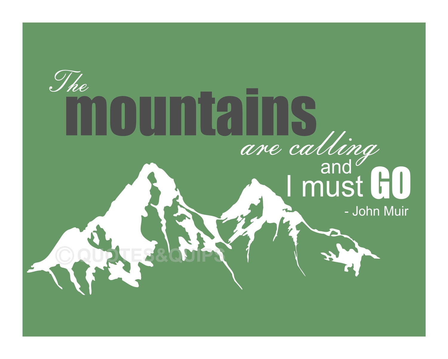Design Poster Urging Mountaineers Preserve Pristine Glory Mountainsides