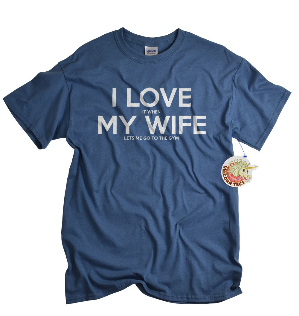 Work out tshirt for husband gym shirt men workout by for Gym shirts womens funny