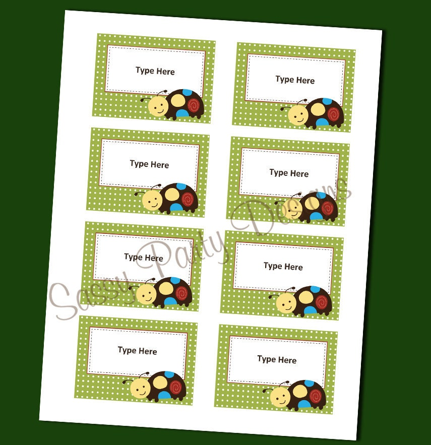 name tags or labels for baby shower