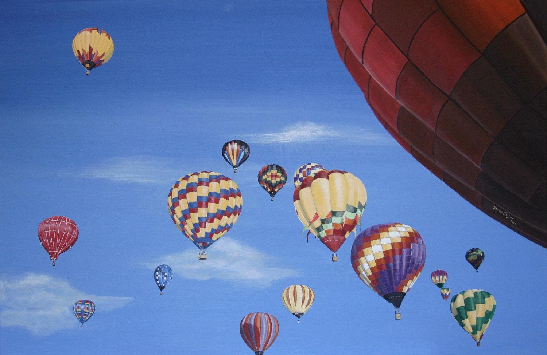 Hot Air Balloons - Giclee Print 18 x 12