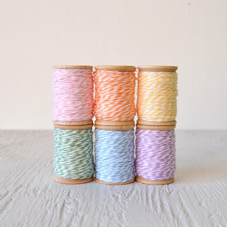 pastel bakers twine