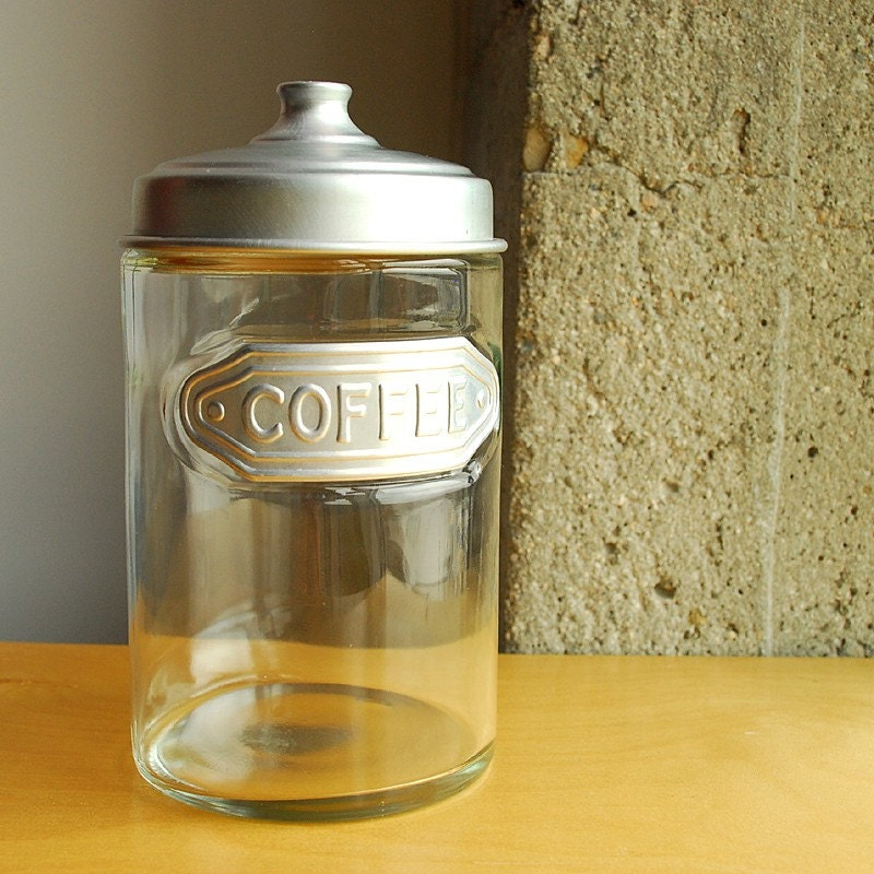 Vintage Glass Coffee Canister