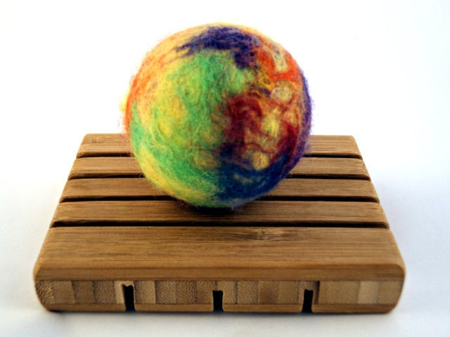 Handmade Citrus Felted Soap - Round Ball - FlatlandersSoapCo