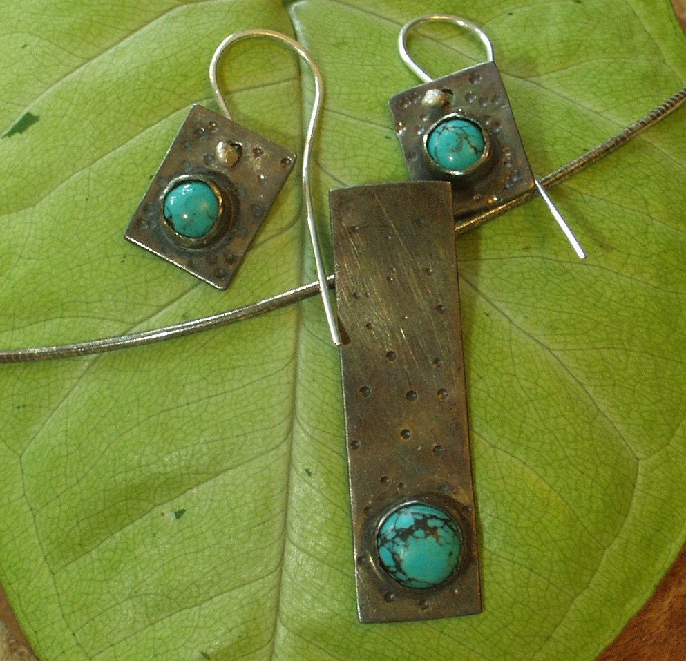 Holiday SALE Will ship SAME DAY - Remembering the Past in Turquoise