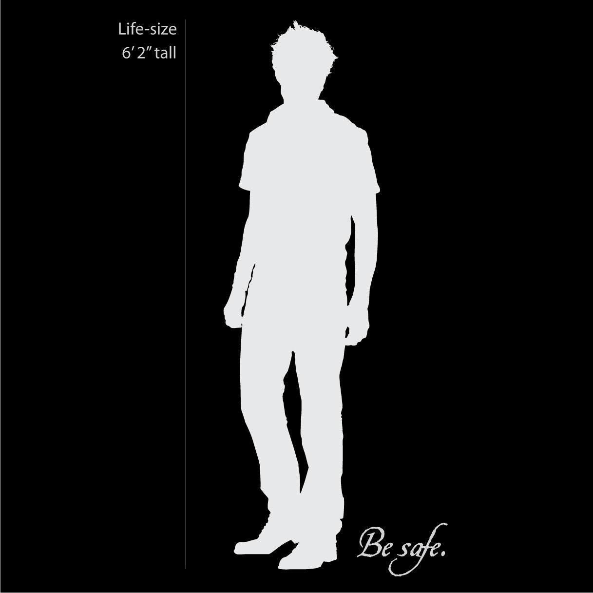 Edward Cullen Life Size Twilight Silhouette Vinyl Wall Decal