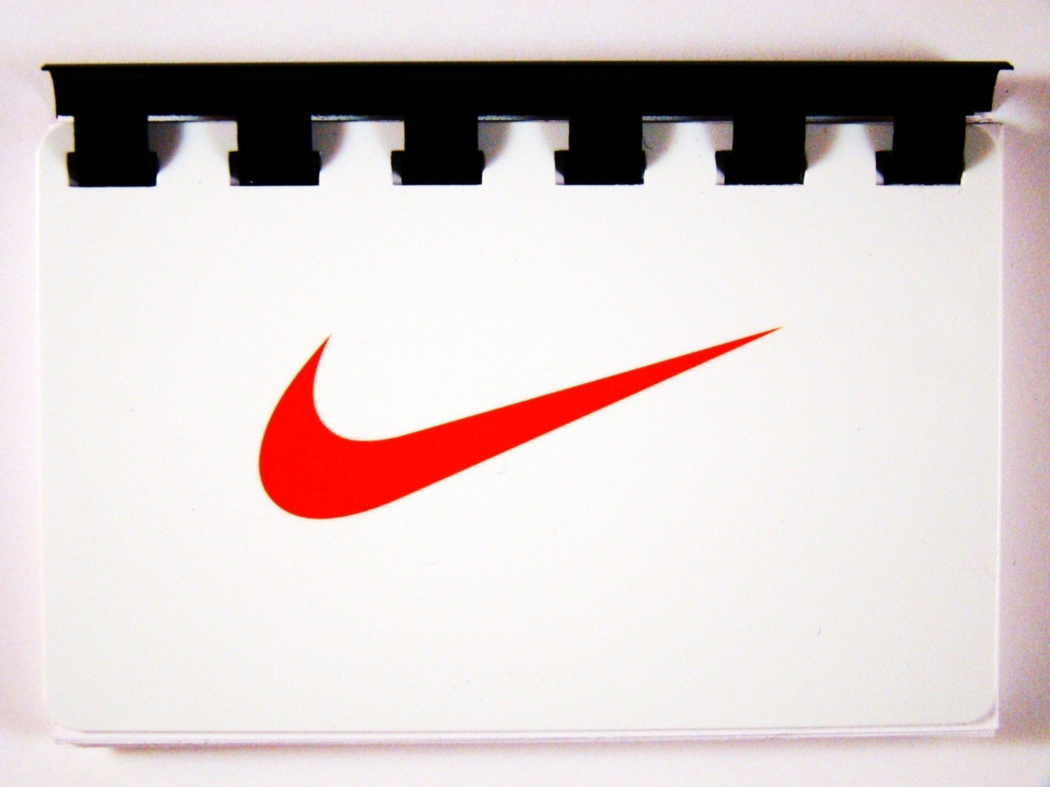 Nike Giftcard  Notebook  ----  No Value on Card -- Novelty Purposes Only