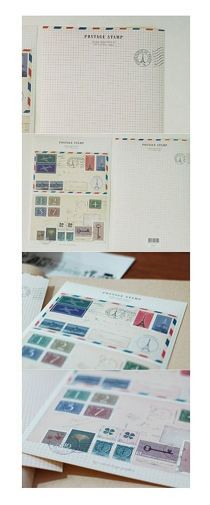 postage stamp sticker set (2sheets)